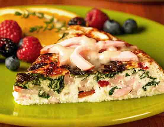 Canadian Bacon, Spinach, & Cheese Frittata