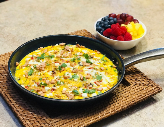 Leftover Fried Rice Canadian Bacon Frittata